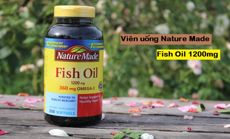 [Review] Dầu cá Nature Made Fish Oil Omega 3 1200mg