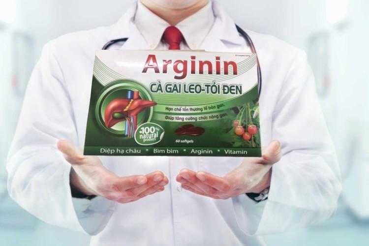 Review Arginin cà gai leo tỏi đen tăng cường chức năng gan