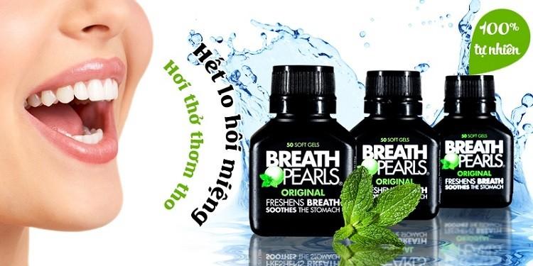 Viên uống thơm miệng Breath Pearls review webtretho