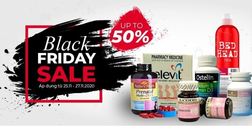 """""""Đại tiệc sale"""" Black Friday với DailyVita.vn - Up to 50% các sản phẩm sức khỏe"""