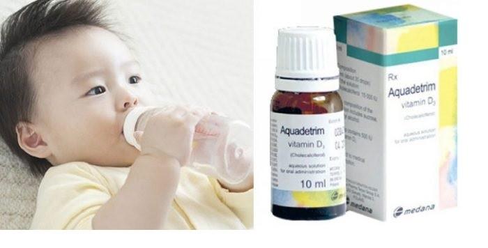 Cách dùng Aquadetrim Vitamin D3 cho trẻ sơ sinh