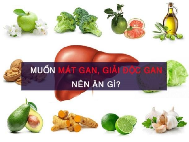 Top thực phẩm mát gan giải độc trị mụn hiệu quả