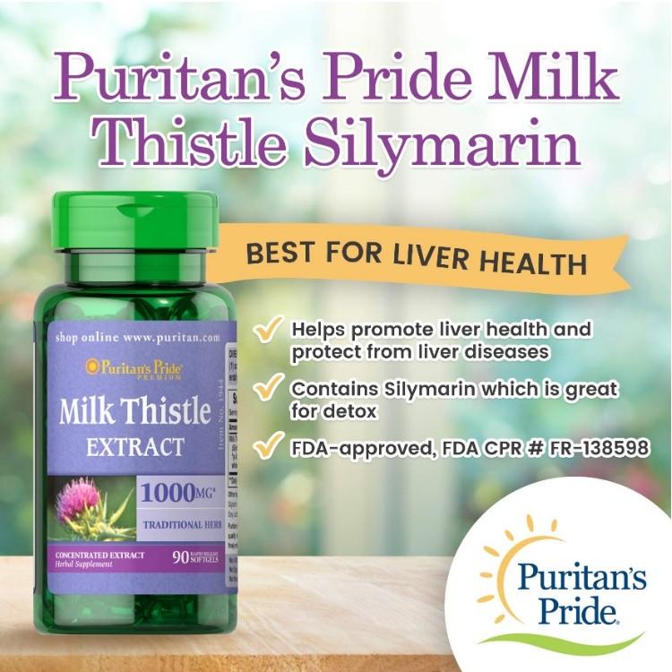 Milk Thistle Extract hỗ trợ chức năng gan