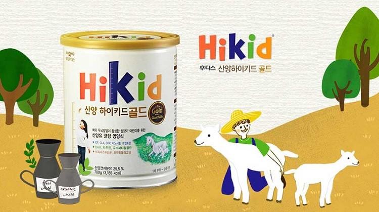 Sữa dê núi Hikid Gold