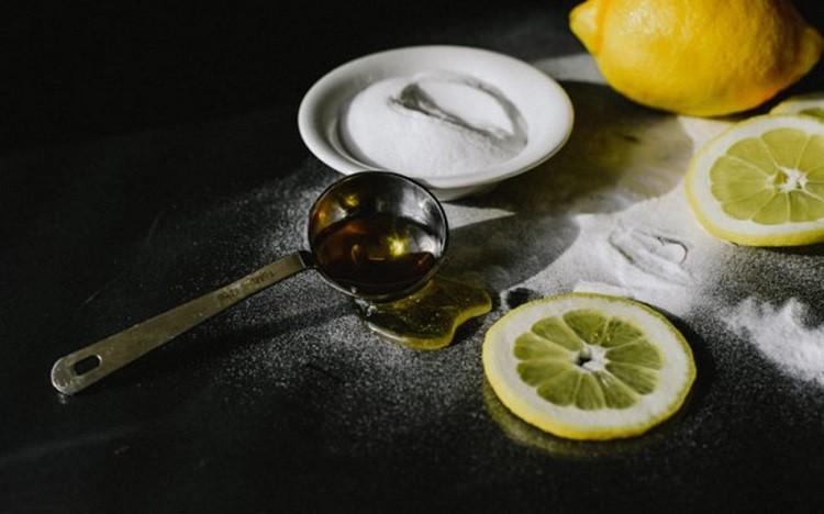 Baking soda, mật ong và nước cốt chanh