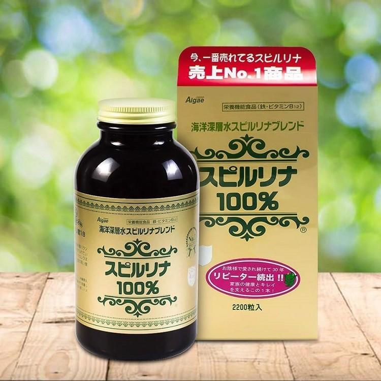 Tảo xoắn Spirulina Nhật Bản 100%
