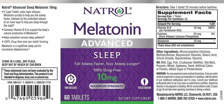 Natrol Melatonin Advanced Sleep