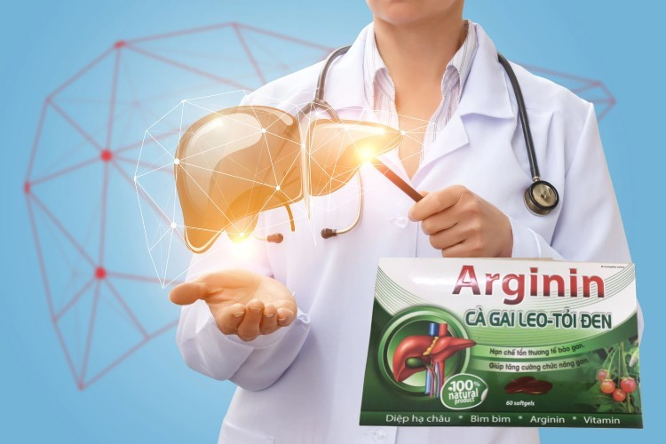 Viên uống Arginin cà gai leo - tỏi đen từ công ty dược phẩm quốc tế USA