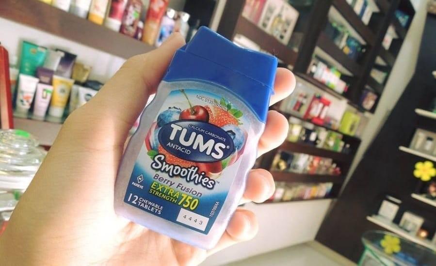 Viên uống Tums Extra Strength 750