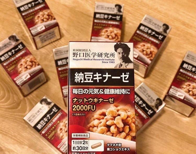Viên uống Nattokinase 2000FU Orihiro Nhật Bản
