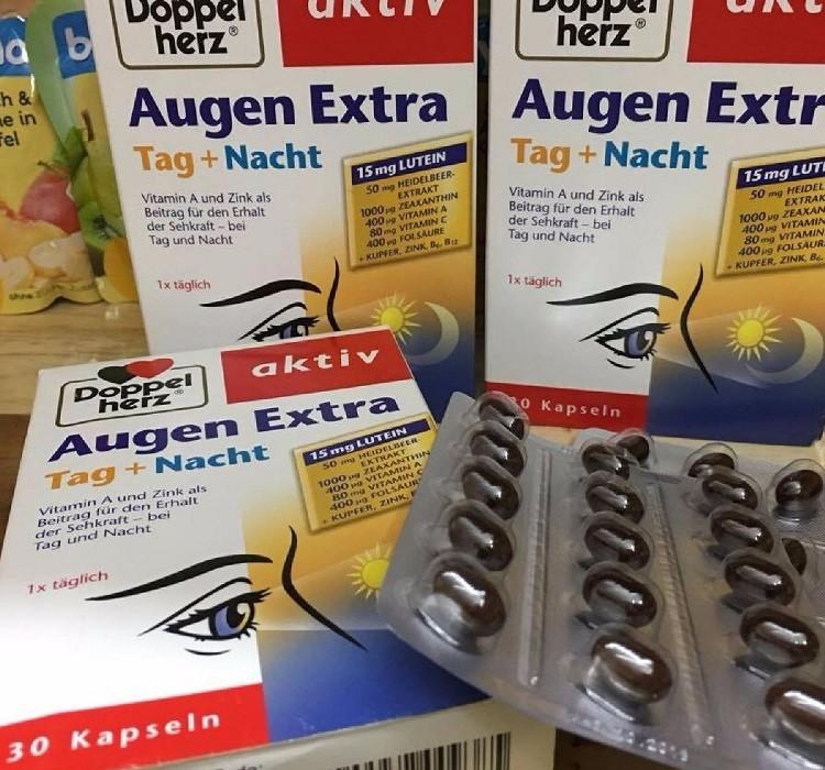 Sử dụng Doppelherz Augen Extra Tag + Nacht theo hướng dẫn