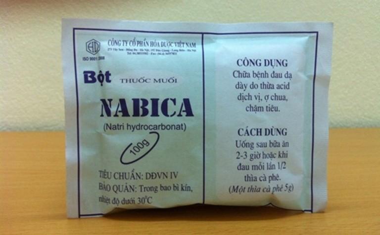 thuốc nabica dùng chữa bệnh dạ dày chứa chất cấm, thuốc nabica, muối nabica, thuốc muối nabica chữa đau dạ dày