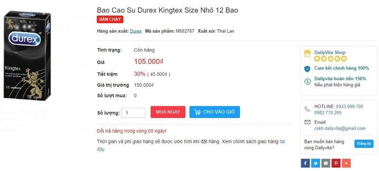 bao cao su durex kingtex 12 bao giá bao nhiều, tác dụng bao cao su durex kingtex, bao cao su durex kingtex có tốt không, bao cao su durex kingtex công dụng