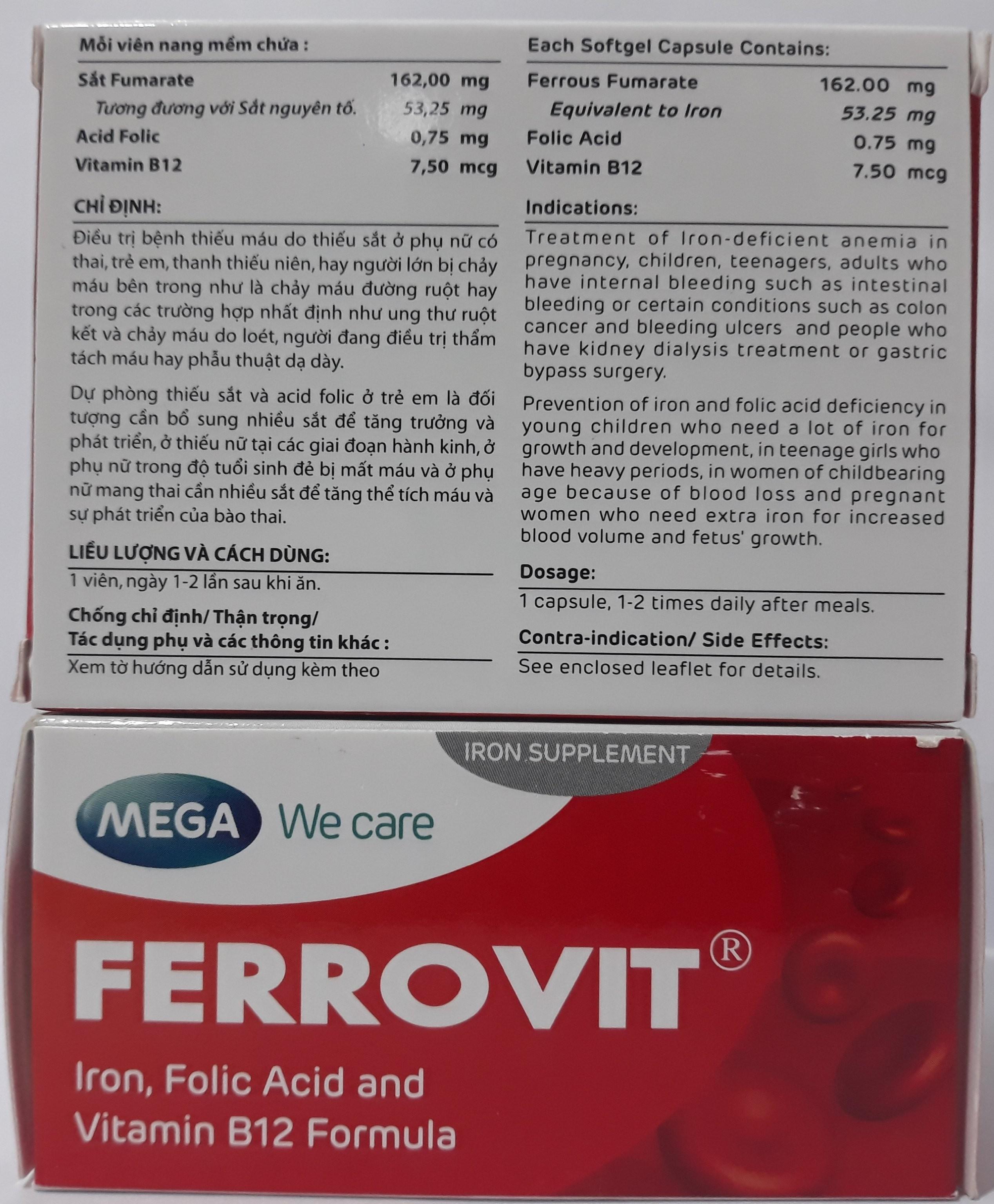 thuốc bổ máu ferrovit, bổ máu, thuốc bổ máu, ferrovit, thuốc sắt ferrovit