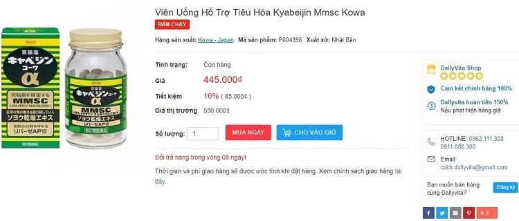 Review thuốc dạ dày Kowa 300 viên, thuốc dạ dày kowa