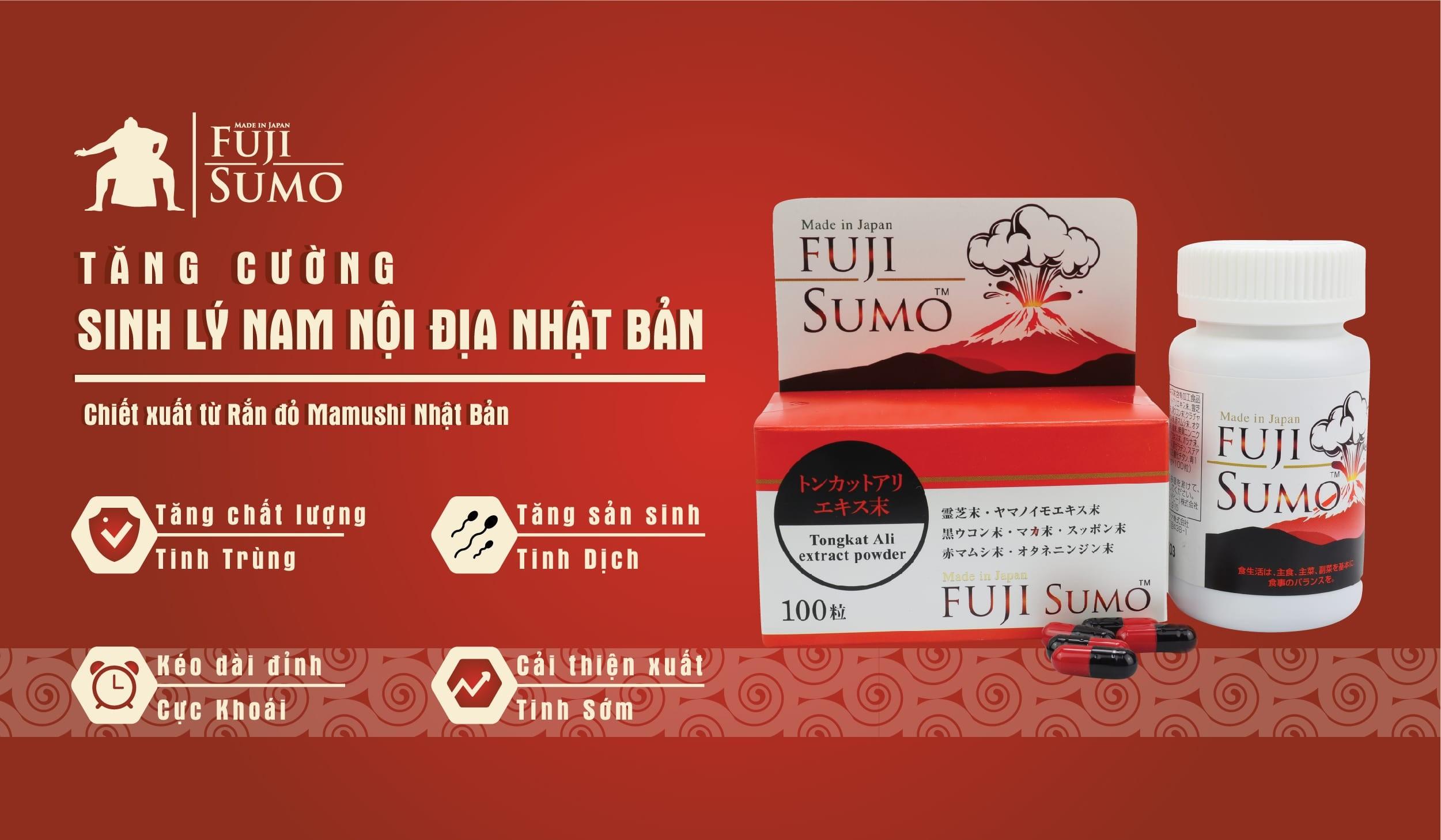 Review viên uống Fuji Sumo Nhật Bản tăng cường sinh lý nam giới